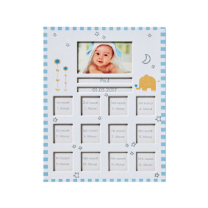 Рамка Walther Baby Animal, blue for 1 photo 6,5 x 10,5 cm and 12 photos 4 x 4 cm BR148L